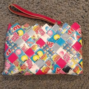 Girls candy wrapper wristlet
